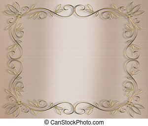 Wedding invitation - Illustration composition for invitation...