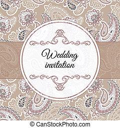 Wedding invitation in beige style - Wedding invitation in...