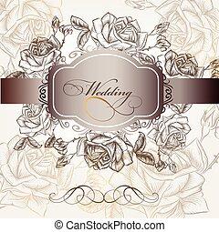 Wedding invitation in elegant style