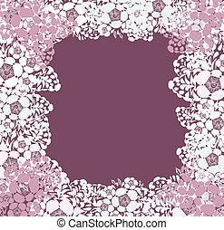 Lace background with a place for text