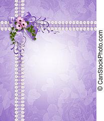 Wedding invitation lavender daisies - Image and illustration...