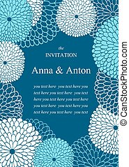 Wedding invitation on the theme of flowers