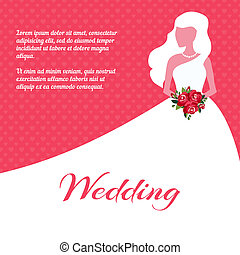 Wedding invitation or card template