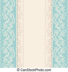 lace border - Wedding invitation or greeting card with lace ...
