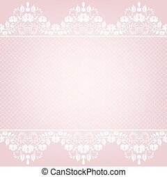 card with lace border