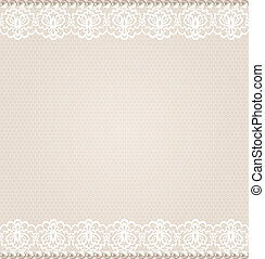 lace floral border - Wedding, invitation or greeting card...