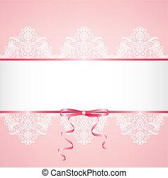 lace floral frame