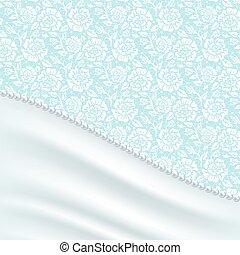 greeting card with silk drapery