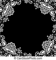 lace on black background