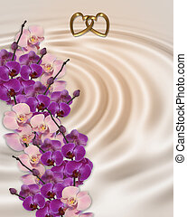 Wedding invitation orchids