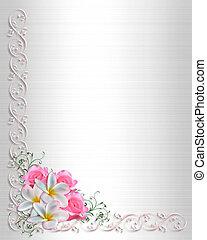 Wedding Invitation plumeria - 3D Illustrated Plumeria and...