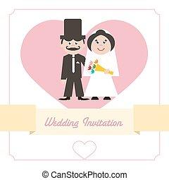 Wedding Invitation Retro Card