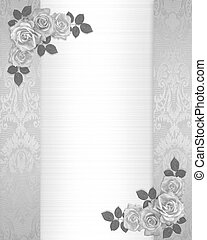 Wedding invitation roses floral border