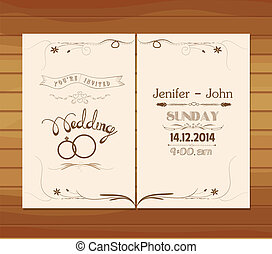 wedding invitation Sketch of retro