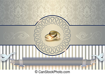 Wedding Ring Background Invitation A Small Set Of Detail On