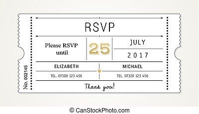 Wedding Invitation Template pt.2 - Wedding Invitation Ticket...