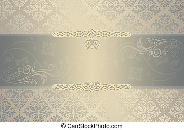 Wedding invitation template.