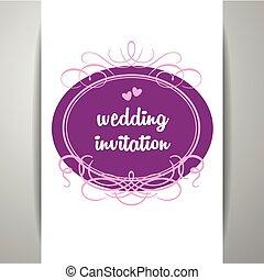 Wedding rings logo design template creative invitation vector wedding invitation template stopboris Gallery