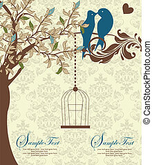 wedding invitation - Love Birds Sitting In a Tree Wedding...
