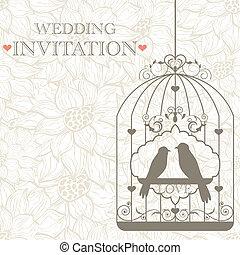 Wedding invitation - Vector pattern for wedding invitation