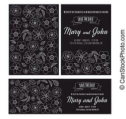 Wedding invitation vector template