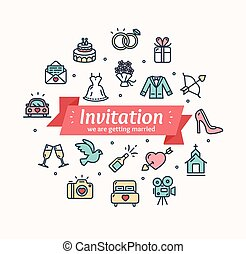 Wedding Invitation. Vector