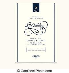 Wedding Invitation Vintage Vanilla Background Vector Image