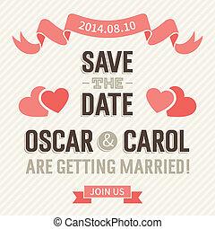 Wedding Invitation - Wedding invitation card template, ...