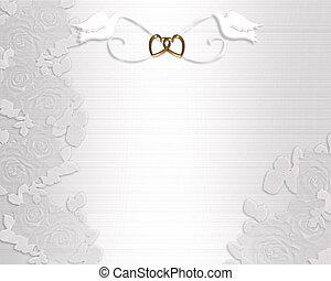 Wedding Invitation White Doves 3d Illustration For Stock