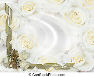 Wedding invitation White roses