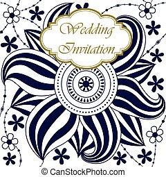 Wedding celebration invitation with spring flower wedding wedding invitation with big flower mightylinksfo