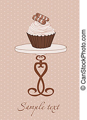 Wedding Invitation with Cupcake