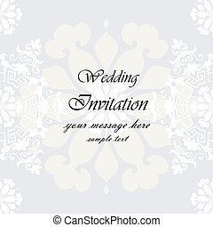 Wedding Invitation with floral background