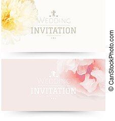 Wedding Invitation With Gradient Mesh, Vector Illustration