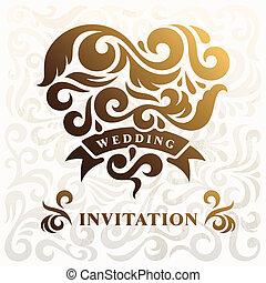 Wedding Invitation with Heart