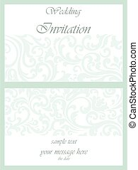 Wedding invitation with ornaments