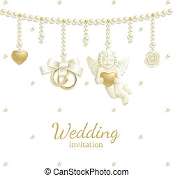 Wedding jewel background - Wedding background with rings,...