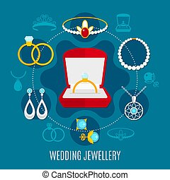 Wedding Jewelry Round Composition
