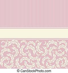 wedding, karte, mit, blumen-, pattern.