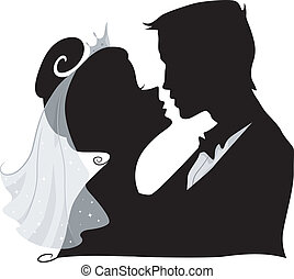 Wedding Kiss Silhouette