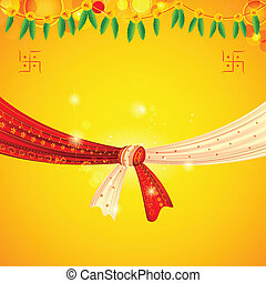 Wedding Knot - illustration of Hindu wedding knot tied with ...