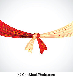 Wedding Knot - illustration of Hindu wedding knot tied with...