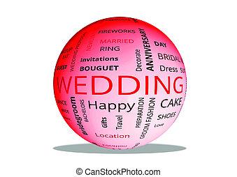 """""""wedding"""", Kugel, 3d - """"wedding"""", kugel, 3d"""