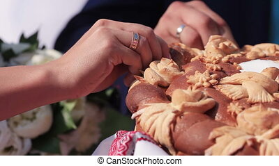 Wedding loaf element - Details wedding cake in the form of...