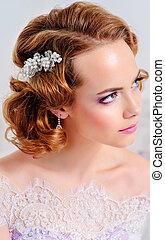 wedding make-up and jewelry