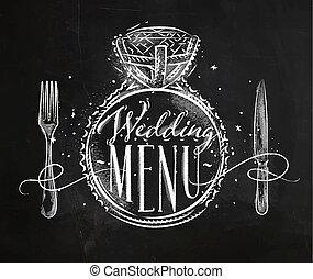 Wedding menu chalk