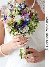 wedding., mooi, bruid