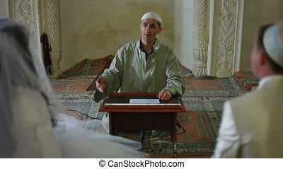 Wedding of Crimean Tatars in Mosque