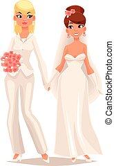 wedding of two lesbians girls
