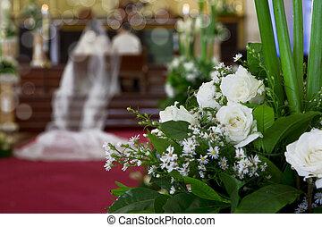 Wedding on a church